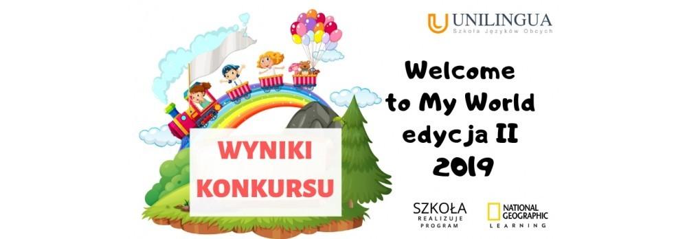 Wyniki konkursu Welcome to my world