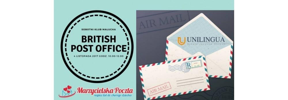 Sobotnik Klub Malucha 4.11 -  British Post Office