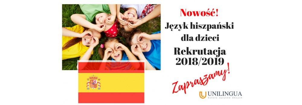 Nowość! Język hiszpański dla dzieci