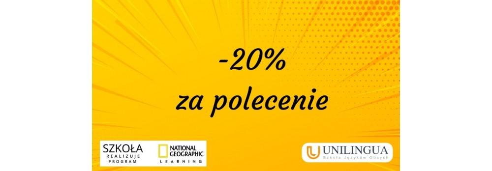 Zyskaj -20% na kurs językowy